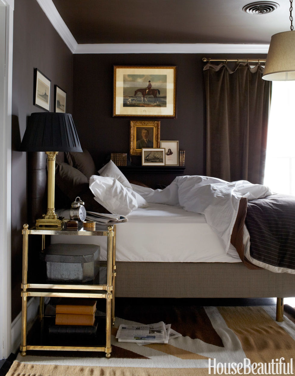 Bedroom Decor With Dark Brown Furniture dark paint color rooms - decorating with dark colors