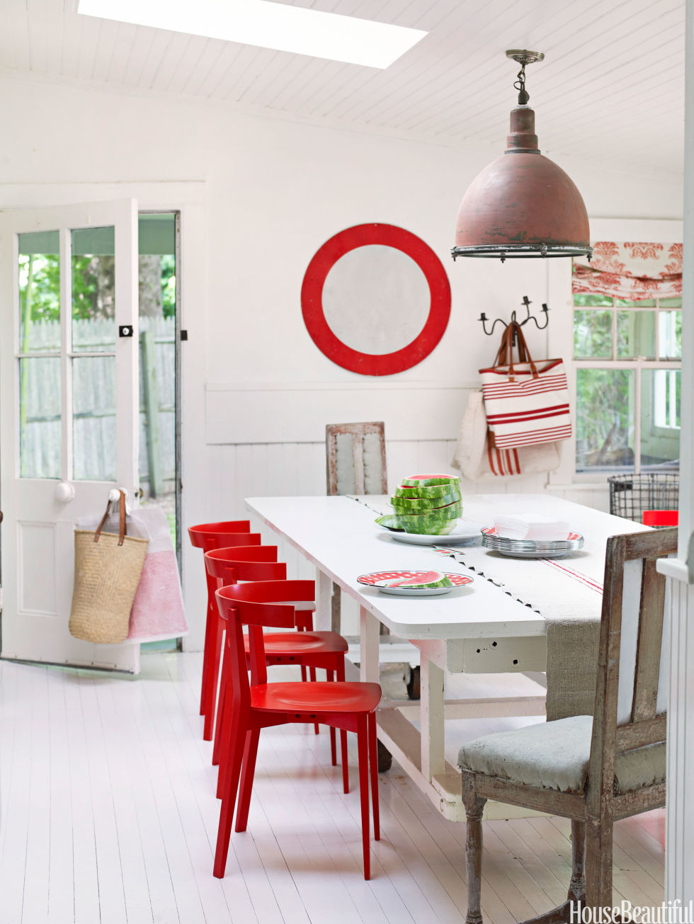 White Kitchen With Red Accents Happy Kitchen Ideas Bright Kitchens