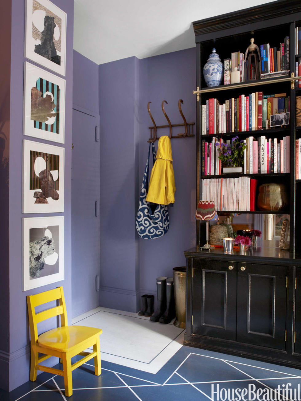 Colorful entryways paint colors for foyer - Small entryway paint colors ...