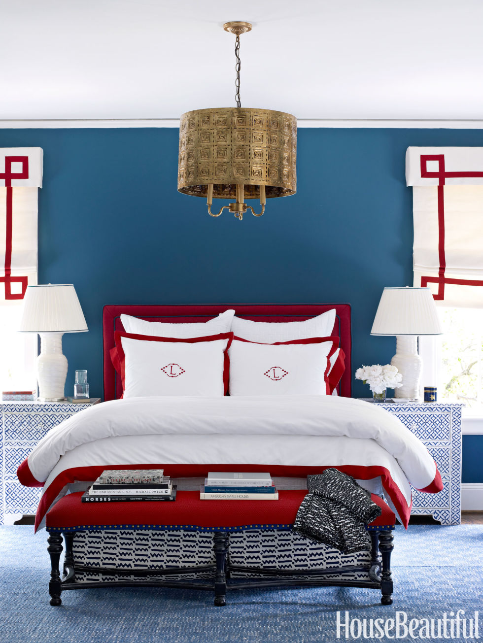 Bedroom colors blue and red - Patriotic Decor For 4th Of July Red White And Blue Decorating Ideas