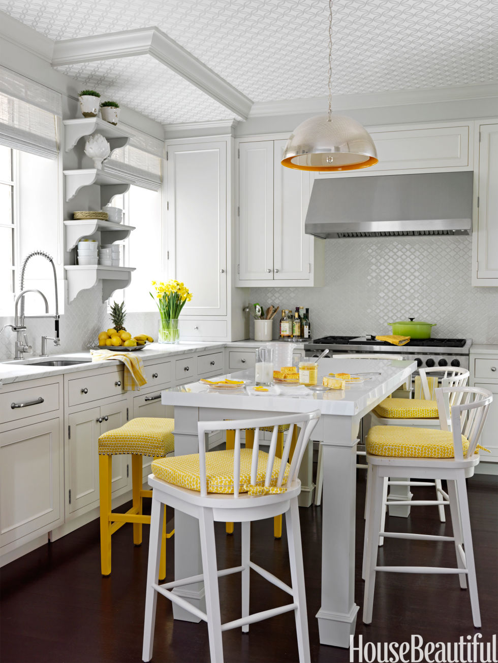 Yellow Kitchen Popular Kitchen Paint And Cabinet Colors Colorful Kitchen Pictures