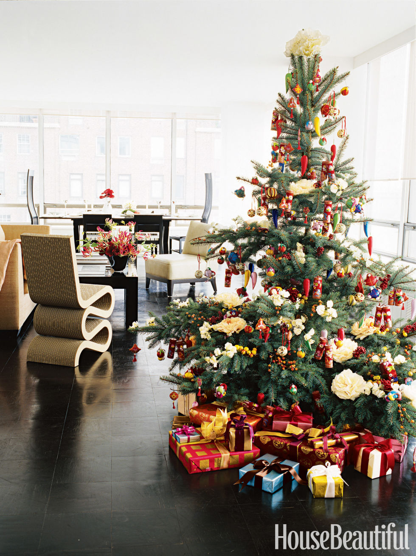 House beautiful christmas tree decorating ideas - House interior