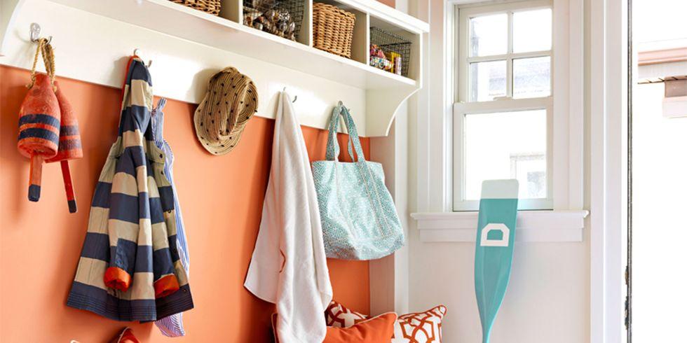 orange entry - Colorful Home Decor