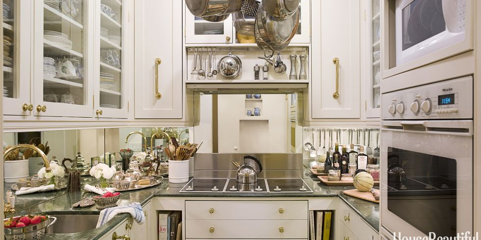 mirrored backsplash - Kitchen Design New York