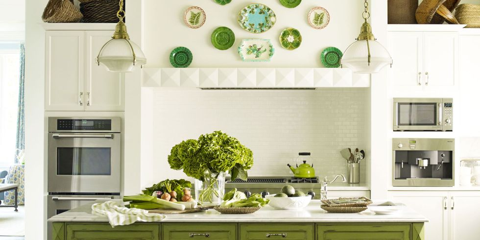 White Kitchen Green Walls green kitchens - ideas for green kitchen design