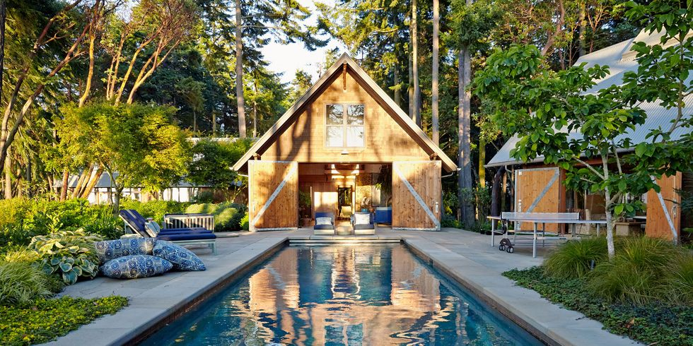 barn poolhouse - Swimming Pool Designs