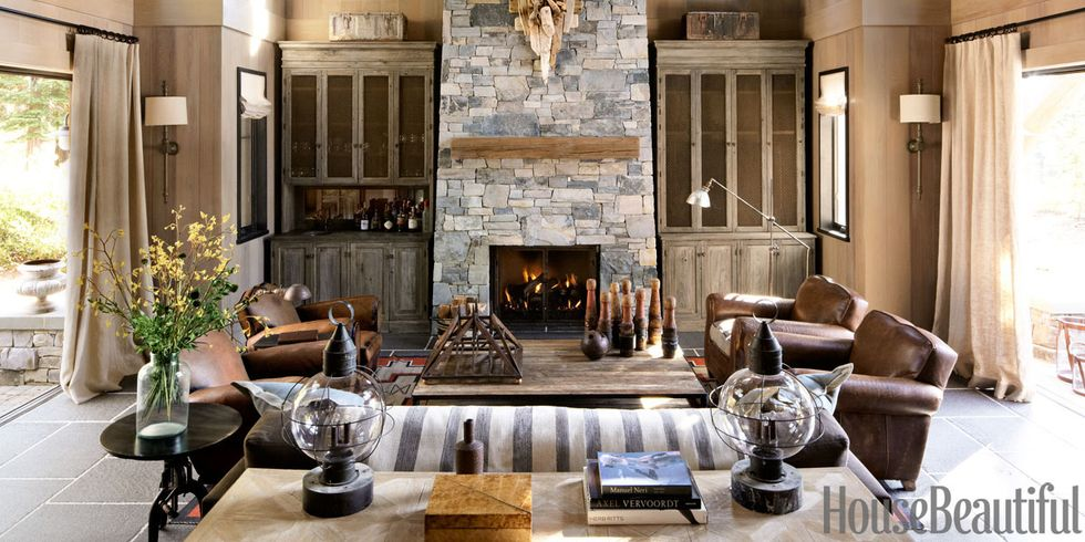 mountain retreat living room - house beautiful pinterest favorite