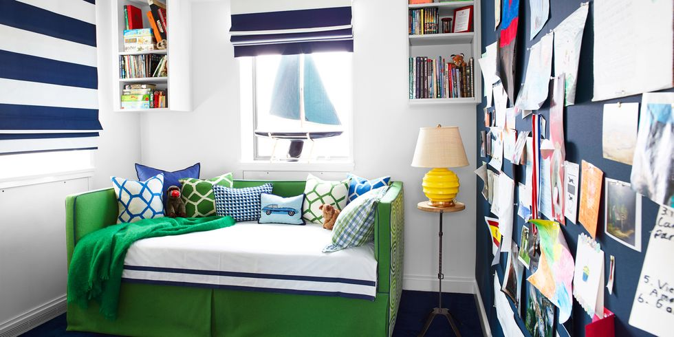 green daybed - Colorful Boys Room