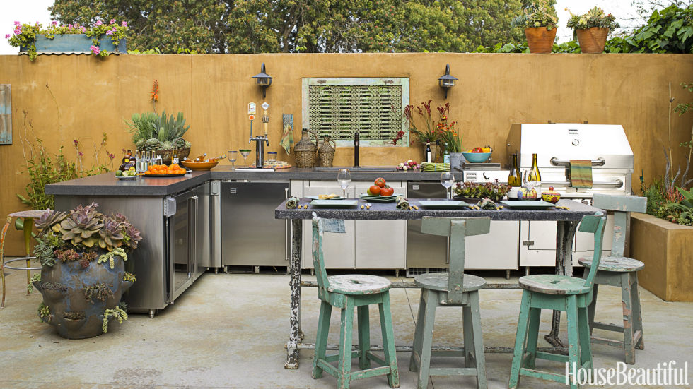 Earthy Outdoor Kitchen Great Pictures