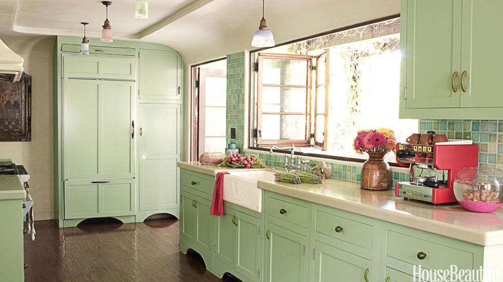 Colored Kitchen Cabinets popular kitchen paint and cabinet colors - colorful kitchen pictures