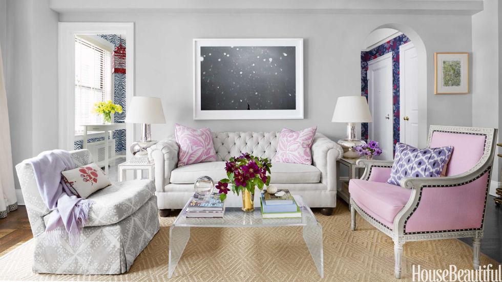 Living Room Furniture New York small nyc apartment design - lavender decorating ideas