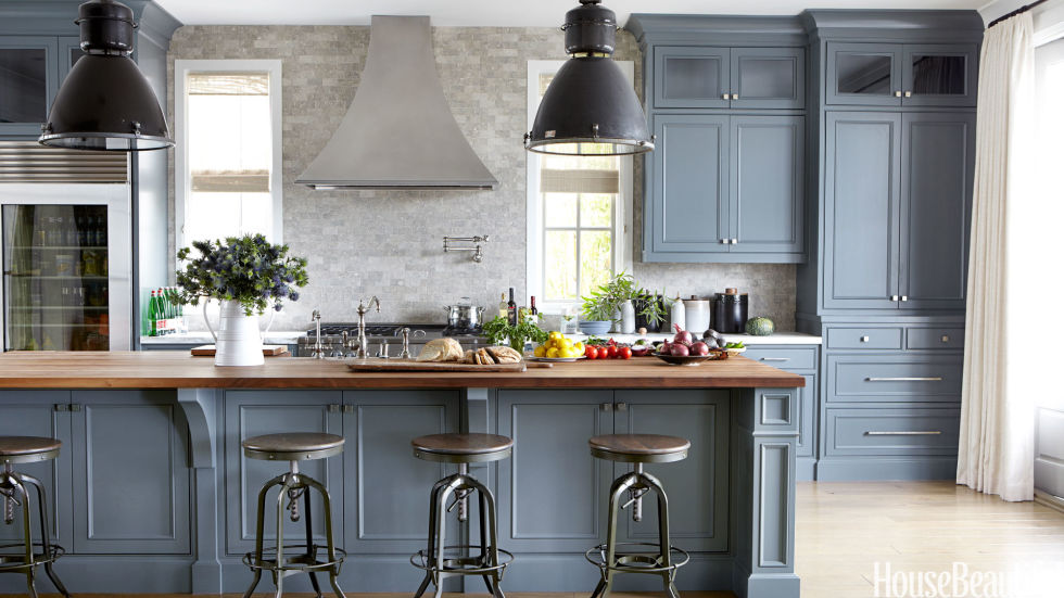 Blue Painted Kitchen Cabinets 20+ best kitchen paint colors - ideas for popular kitchen colors