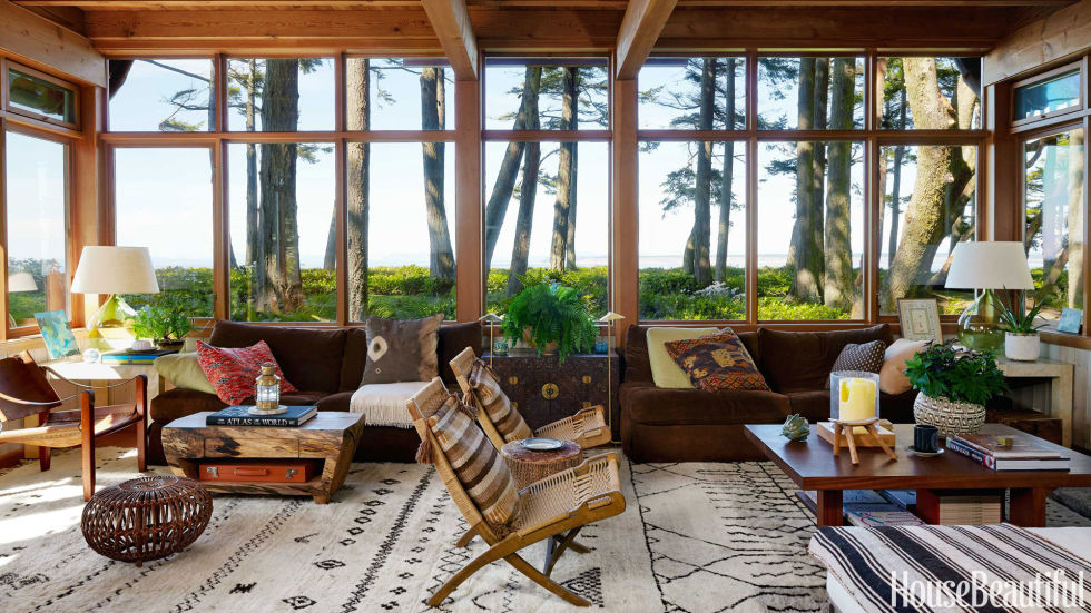 Mid Century Modern Rustic Living Room warm and rustic modern house - organic house design
