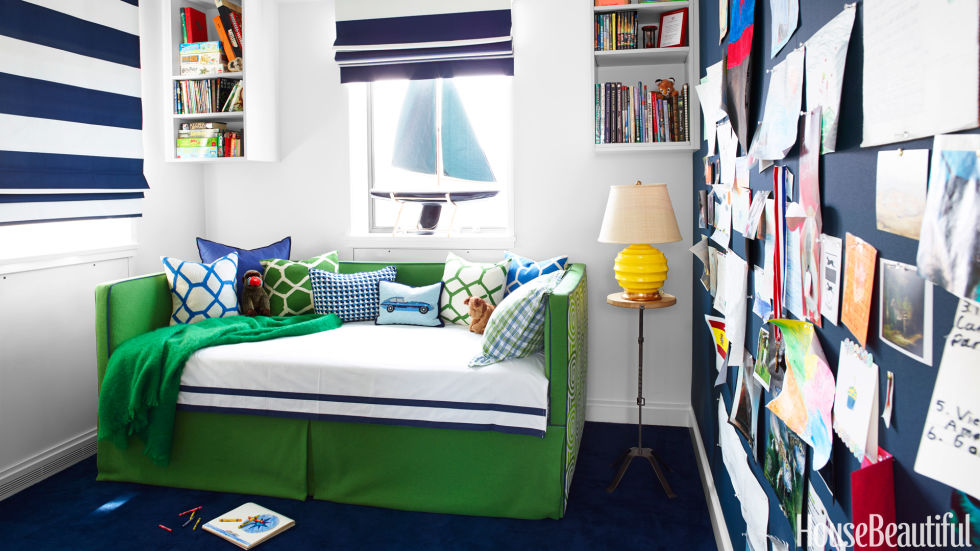 green daybed - Boy Bedroom Colors