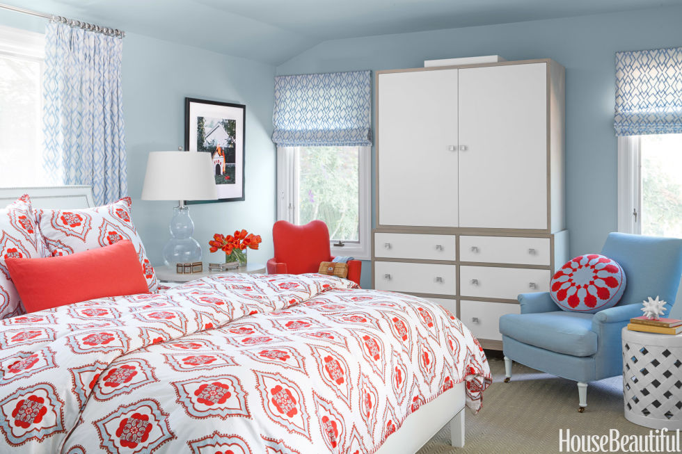 Orange Bedroom Ideas Adults 60 best bedroom colors - modern paint color ideas for bedrooms
