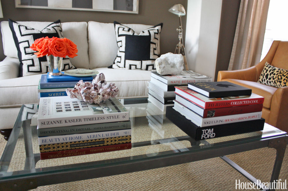 coffee table styling tricks - how to decorate a coffee table