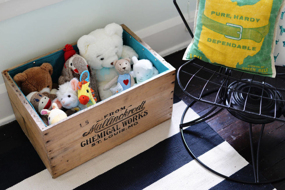 Fabric-Lined Crate - 15 DIY Storage Ideas - Easy Home Storage Solutions