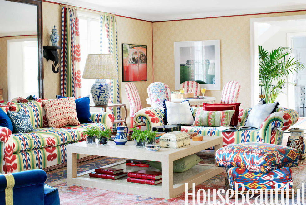 ikat sofa - Preppy Home Decor