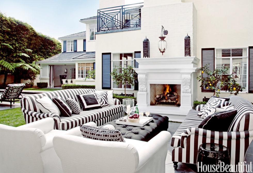 House Beautiful Living Room indoor outdoor rooms - outdoor room decorating ideas