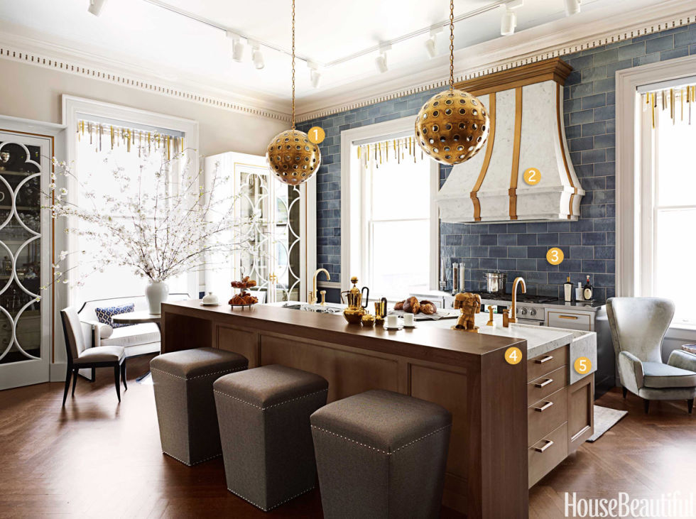 feminine and masculine kitchen - matthew quinn kitchen design