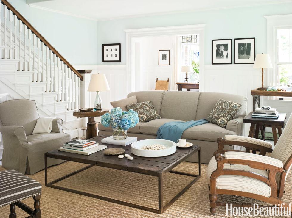 Living Room - Shaker Style Cottage - Robert Stilin Cottage Design
