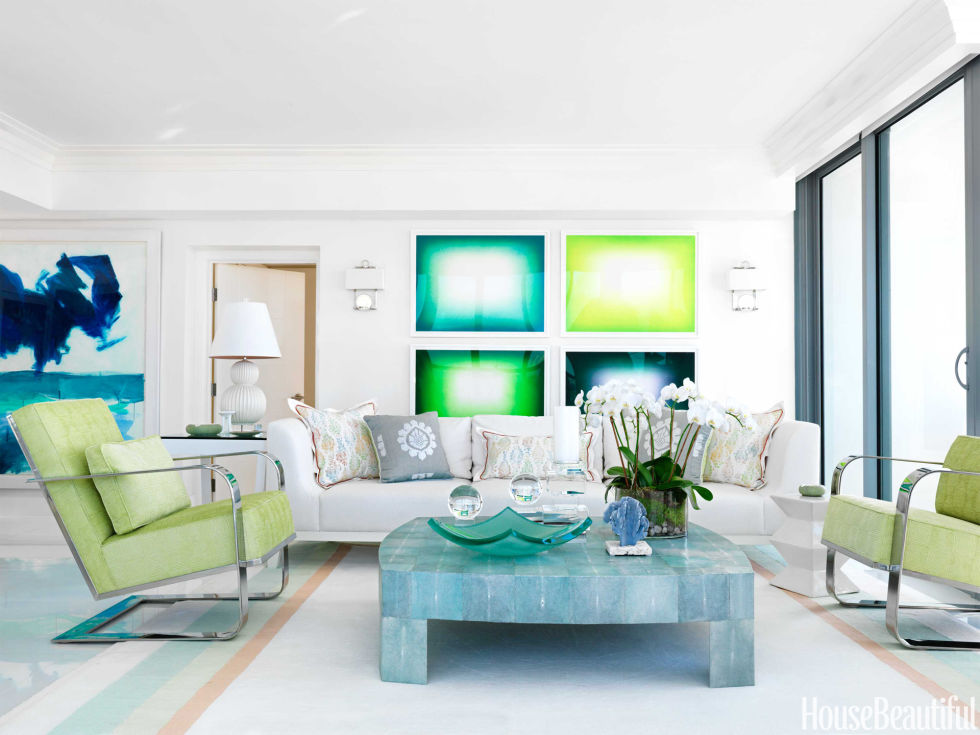 Miami Beach High Rise Apartment - Mod Apartment Decorating Ideas