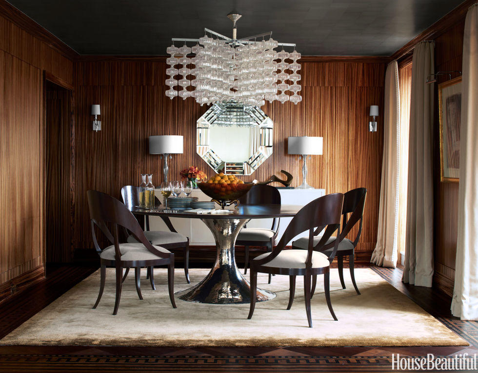 Wood Paneled Dining Room Design Inspirations