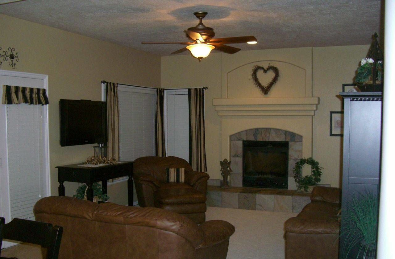 Regular Living Rooms fireplace - makeover