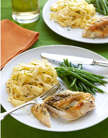 Ina Gartens Tagliarelle Pasta And Stuffed Chicken Recipe