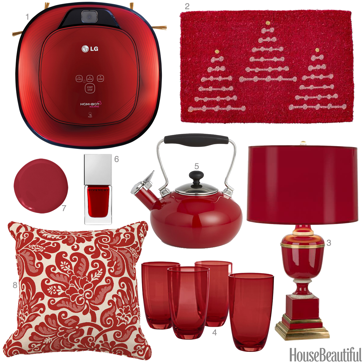 Cranberry red accessories cranberry red home decor for Home decor and accessories