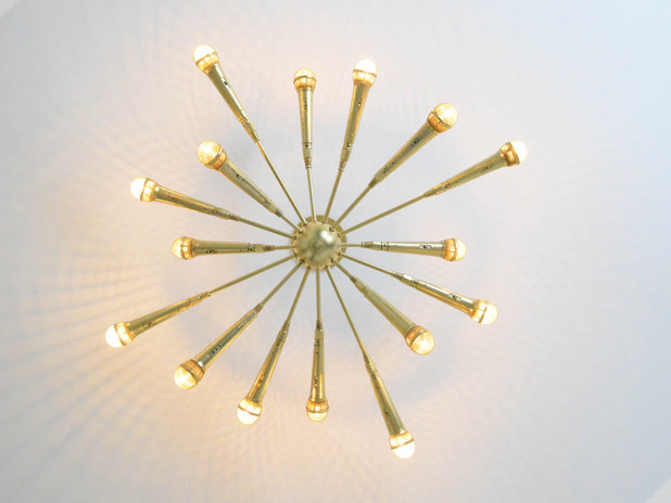 This DIY Sputnik Chandelier Made from Microphones Is the Coolest Light  Fixture Ever - DIY Sputnik Chandelier Made From Microphones - Microphone Sputnik
