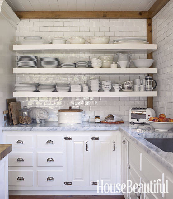 White Kitchen Shelf: Hate Open Shelving? These 15 Kitchens Might Convince You
