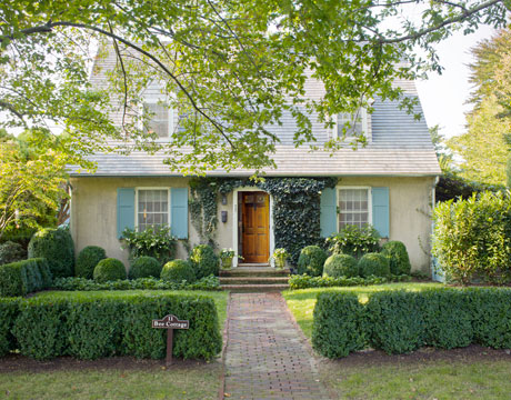 House facade makeover bee cottage front yard by frances schultz - English style window boxes living facades ...
