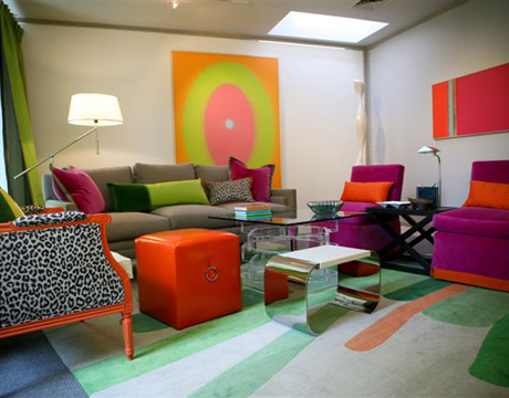 colorful living room design by eileen kathryn boyd - Colorful Living Room
