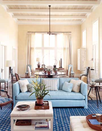 Caribbean Style Light Blue Home Designed By Tom Scheerer