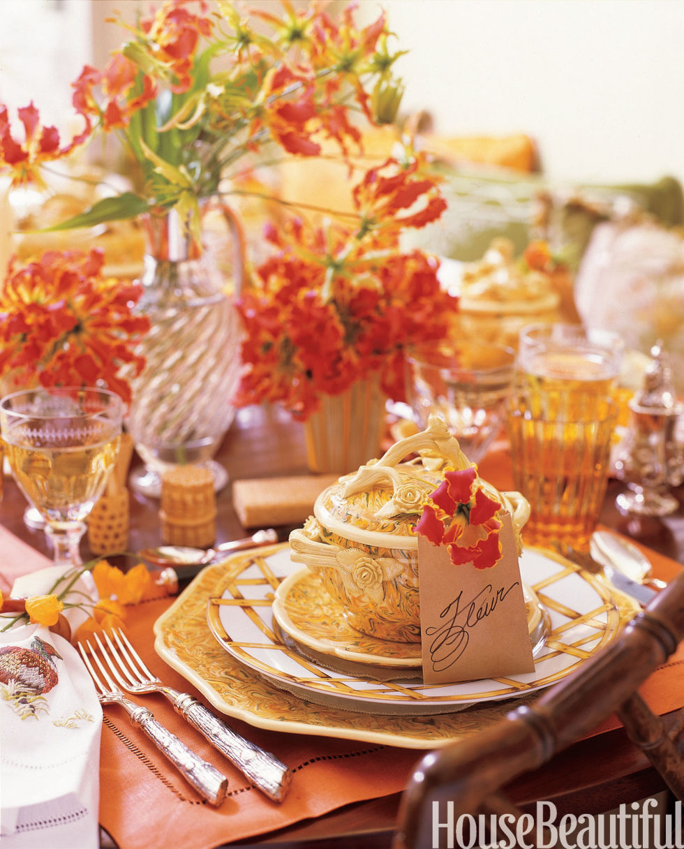 Thanksgiving Entertaining 14 thanksgiving table decorations - table setting ideas for