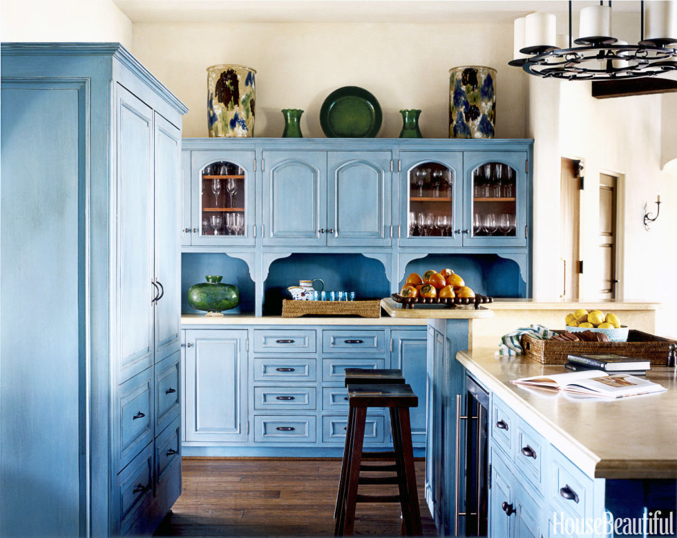 turquoise kitchen - Kitchen Cabinet Design Ideas