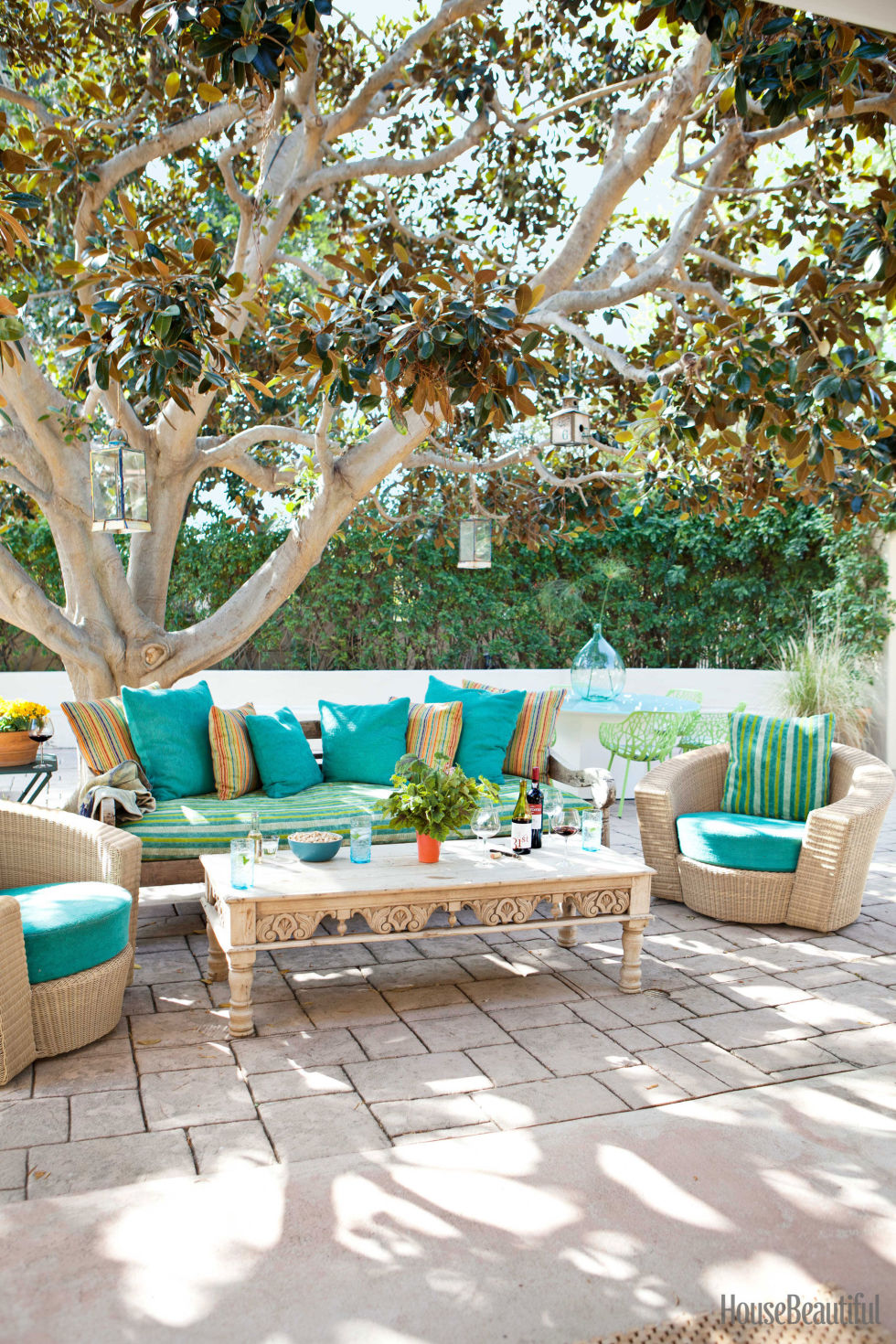 Outdoor Living Spaces Ideas New Colorful Outdoor Rooms  Colorful Patio Decorating Ideas Review