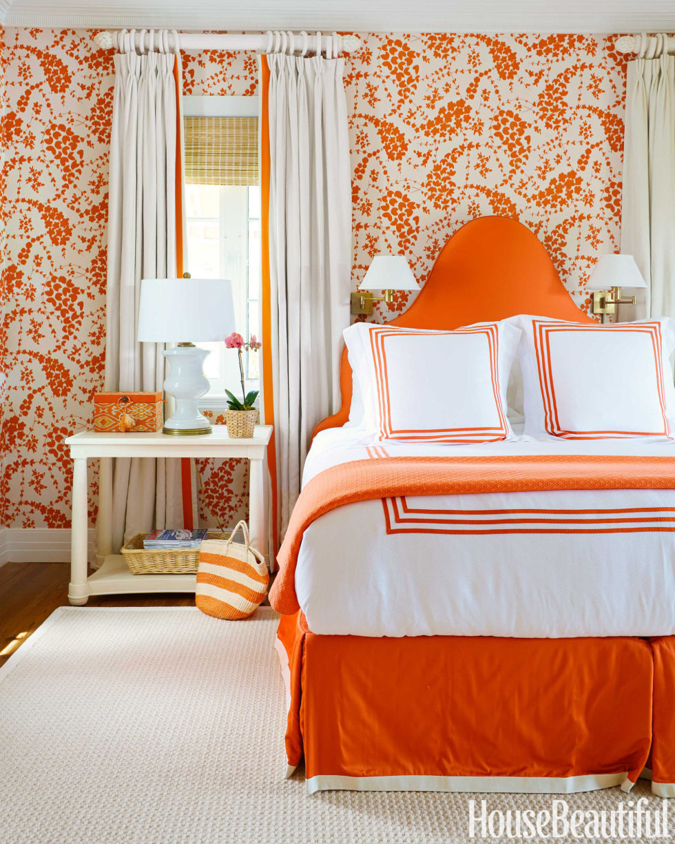 light orange bedroom