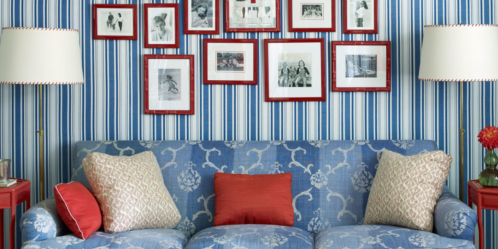 Red White Blue Home Decorating Ideas