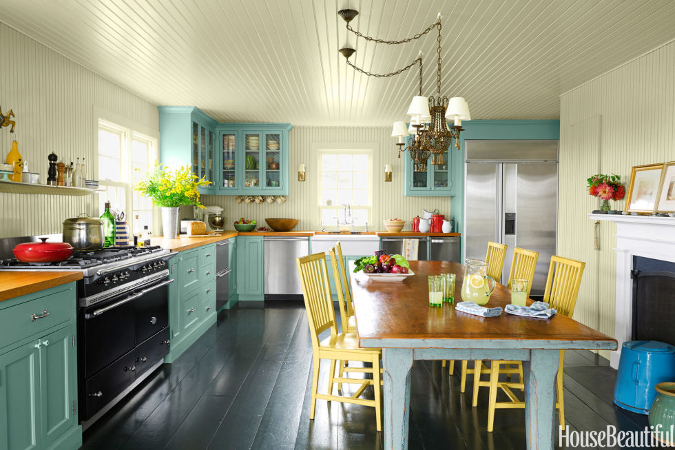 20 best kitchen paint colors ideas for popular kitchen colors - Blue Kitchen Cabinets