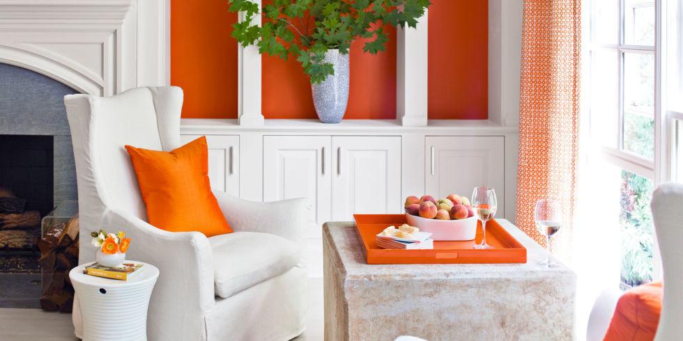 decorating with orange accents - orange home decor