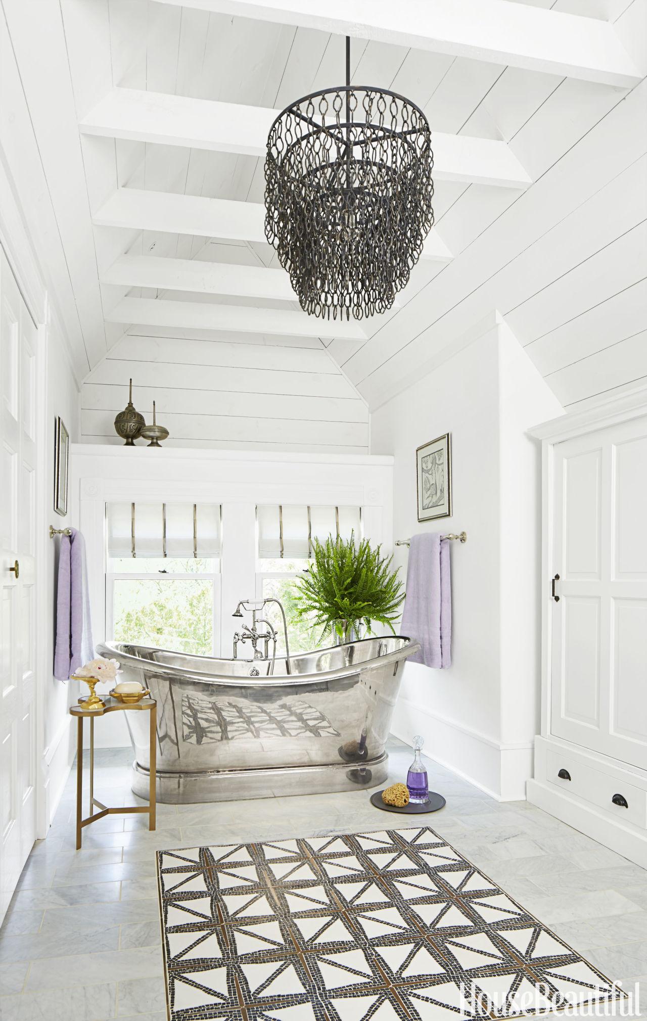 40 Bathroom Tile Design Ideas - Tile Backsplash and Floor ... on Floral Tile Bathroom Ideas  id=45237