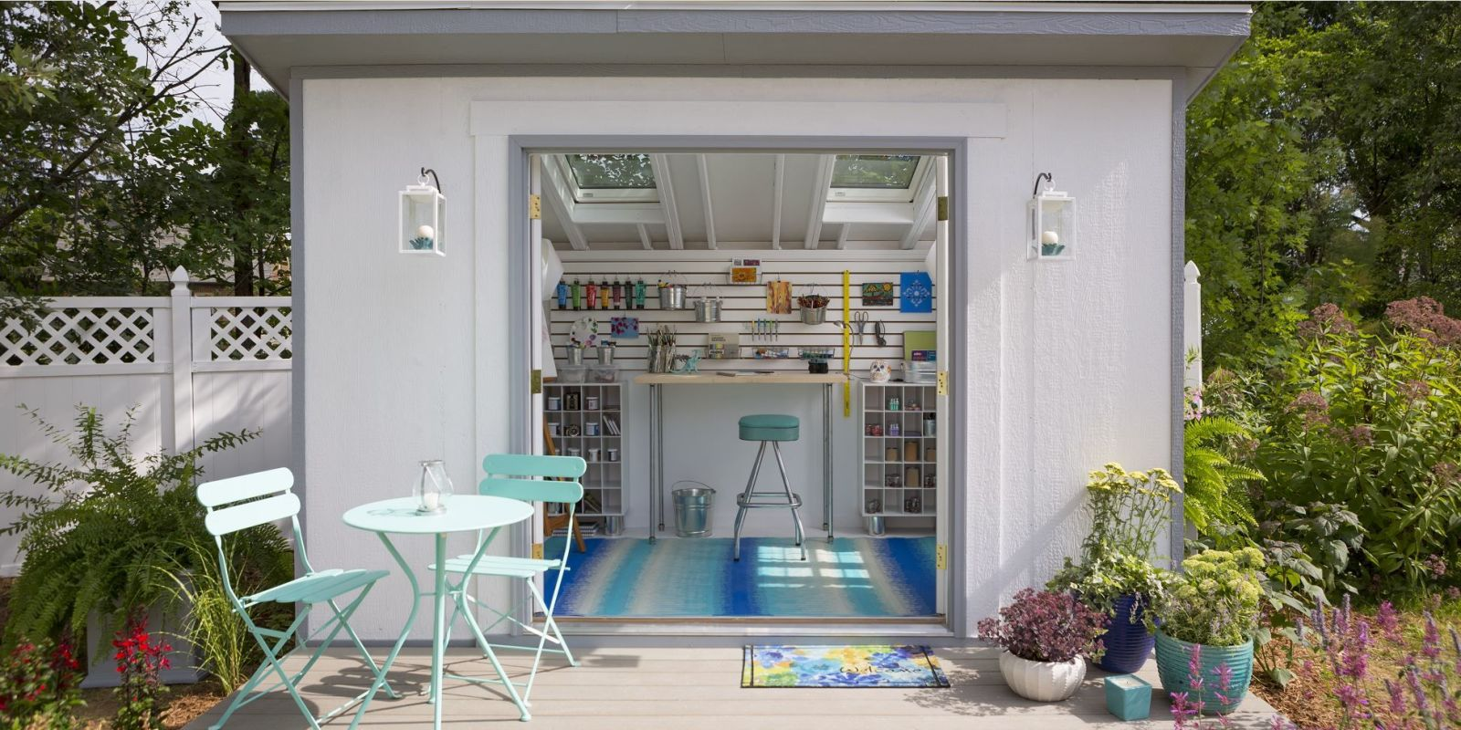 craft ideas for garage sales - She Sheds The Secret to Creating Your Own She Shed