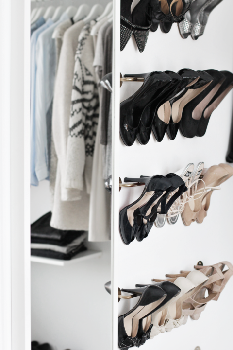 The best thing about high heels is that they're basically designed for this genius storage hack: Hangrails on the inside of yourdoor to squeeze extra storage out of your closet. See more at Stylizimo. »