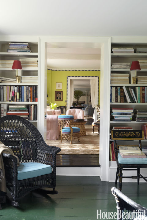 "Deep emerald isn't going anywhere. ""This bluegrass green is on the floors of Monticello — and at my 1688 country home,"" says designer Jeffrey Bilhuber. ""It's a color steeped in history, but also of the moment. To me, that's perfection.""  Get this paint color: Benjamin Moore Courtyard Green 546"