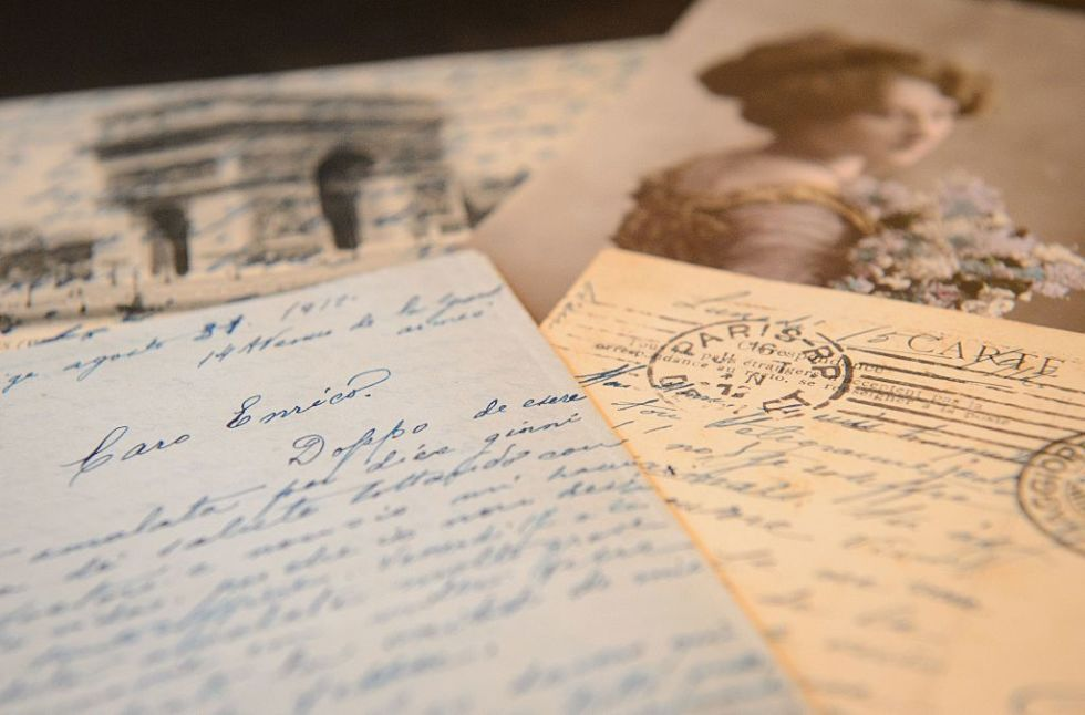 There's a sweetness and innocence to reading old love letters — whether they're from our great-grandparents during World War II or our own younger selves.