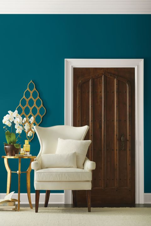 """People today have a growing sense of adventure, and it's making its way into even the coziest corners of our homes,"" says Sue Wadden, director of color marketing at Sherwin-Williams. ""Oceanside is the color of wanderlust right in our own homes."" Get this paint color: Sherwin-Williams' Oceanside SW 6496"