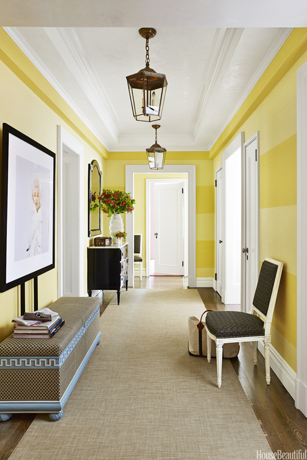 digital photo organizing ideas - Hallway Decor Ideas Bold Hallways