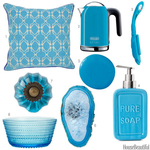 Blue Home Decor Accessories Design Architecture